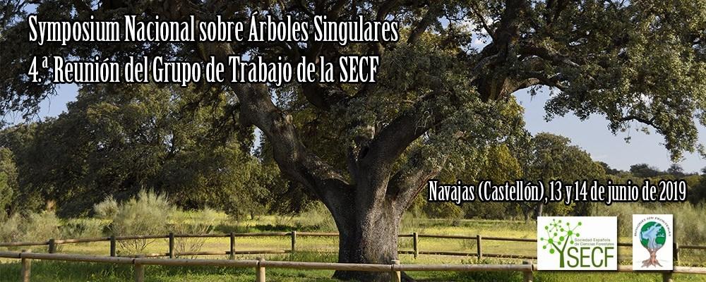 Symposium Nacional sobre Árboles Singulares. Navajas (Castellón), 13 y 14 de junio de 2019